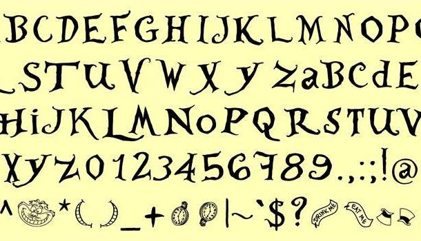 Where is Alice demo font