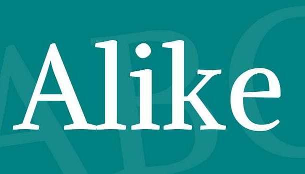 Alike Font