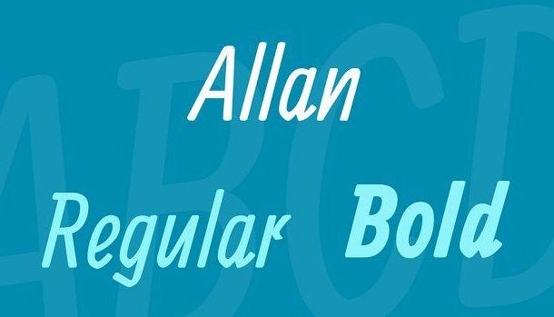 Allan Font Family