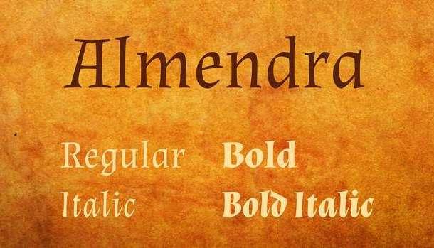 Almendra Font