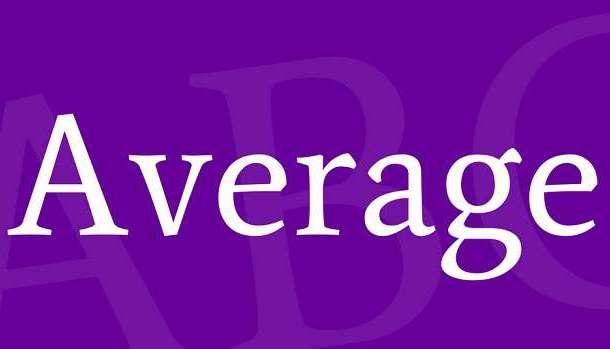 Average Font