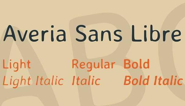 Averia Sans Libre Font Family