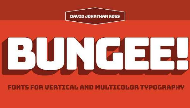 Bungee Inline Font