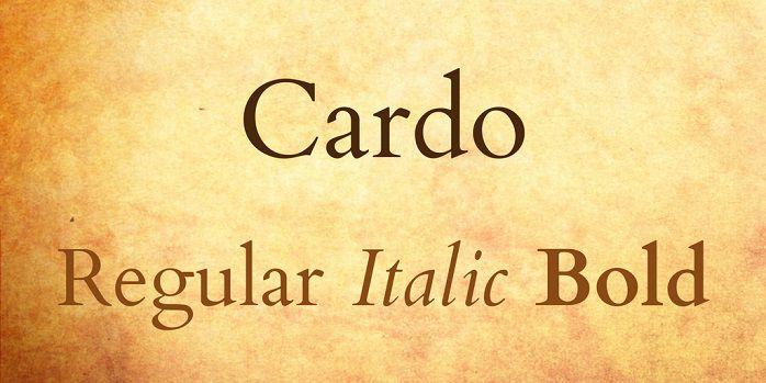 Cardo Font - Dafont Free