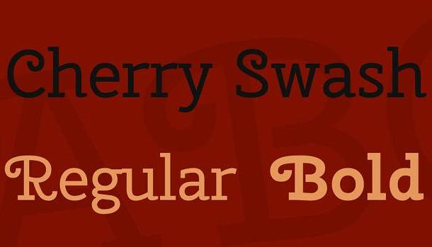 Cherry Swash Font Family