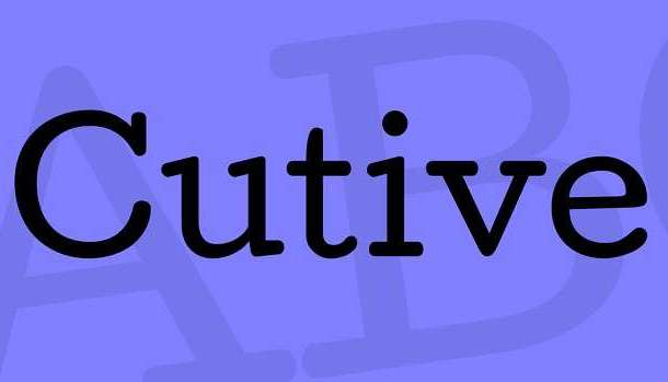 Cutive Font