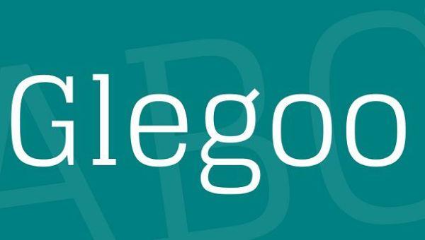 Glegoo Font