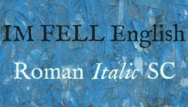 IM Fell English Font