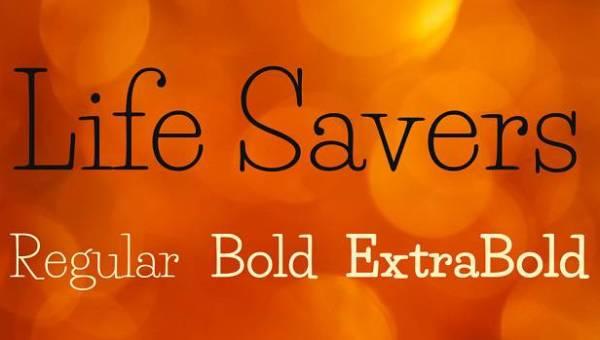 Life Savers Font Family