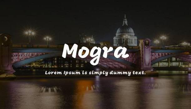 Mogra Font