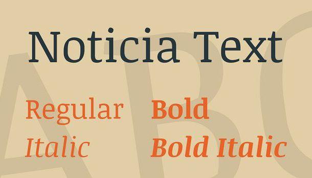 Noticia Text Font