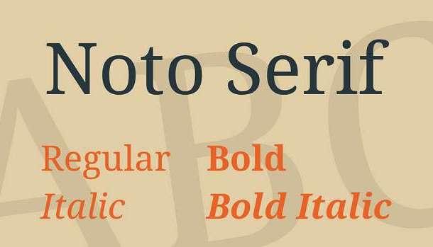 Noto Serif Font