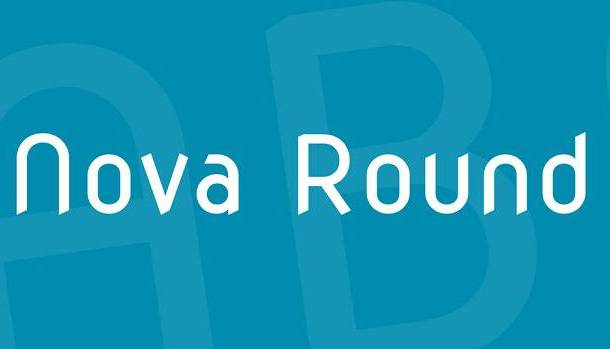 Nova Round Font