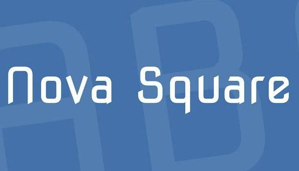 Nova Square Font
