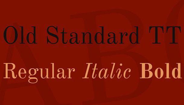Old Standard TT Font
