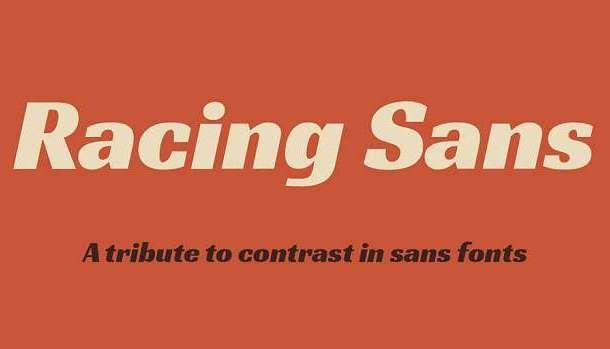 Racing Sans One Font