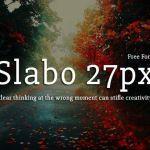 Slabo 27px Serif Font