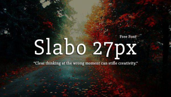 Slabo 27px Font