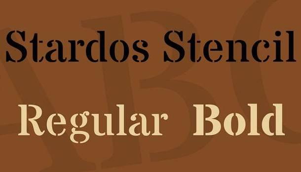 Stardos Stencil Font Family