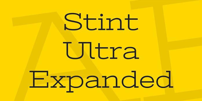 Stint Ultra Expanded Font