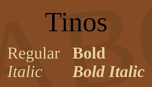 Tinos Font