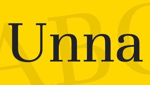 Unna Font