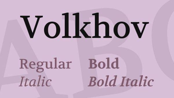 Volkhov Font