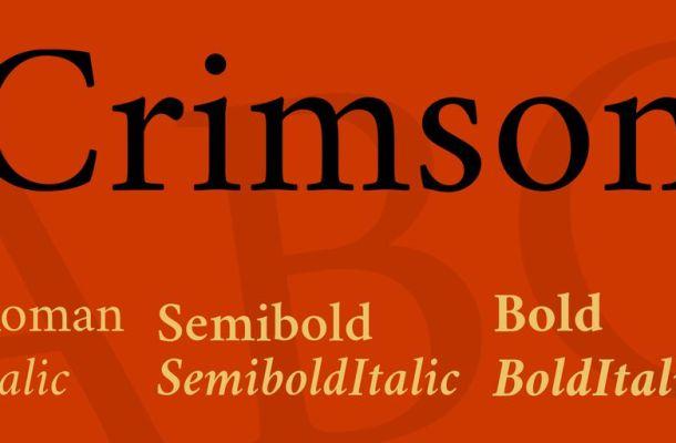 Crimson Text Font Family