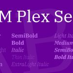 IBM Plex Serif Font Family