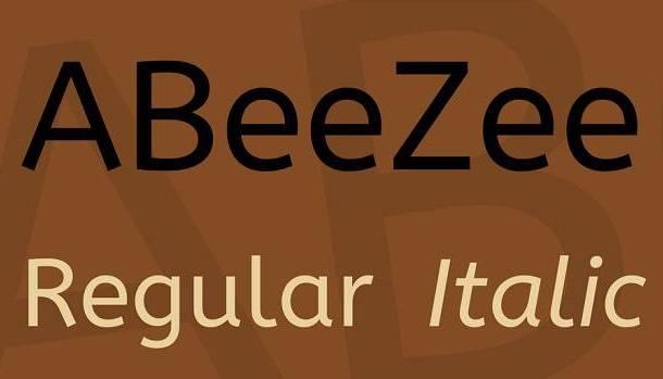 ABeeZee Font Family