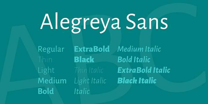 Alegreya Sans Font Family