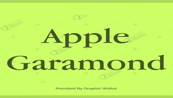Apple Garamond Font Family
