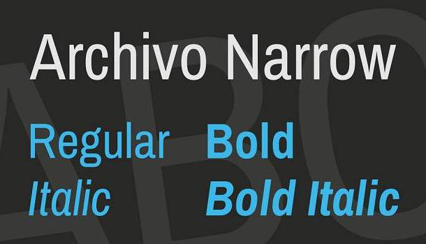 Archivo Narrow Font Family