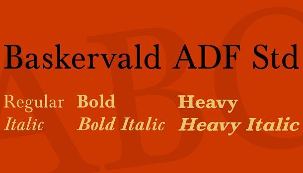 Baskervald ADF Std Font Family