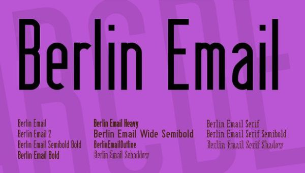 Berlin Email Font Family