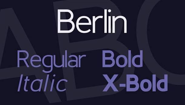 Berlin Font Family