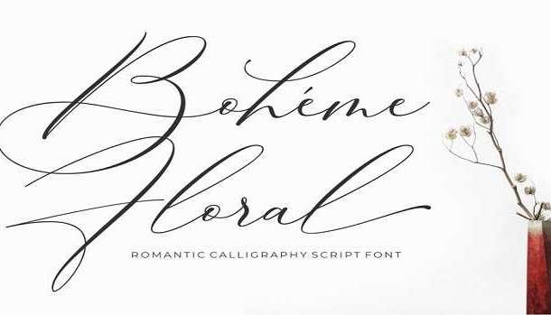 Boheme Floral Font