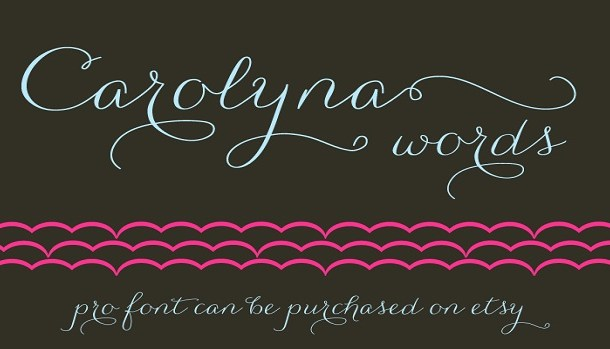 Carolyna Words Font Family
