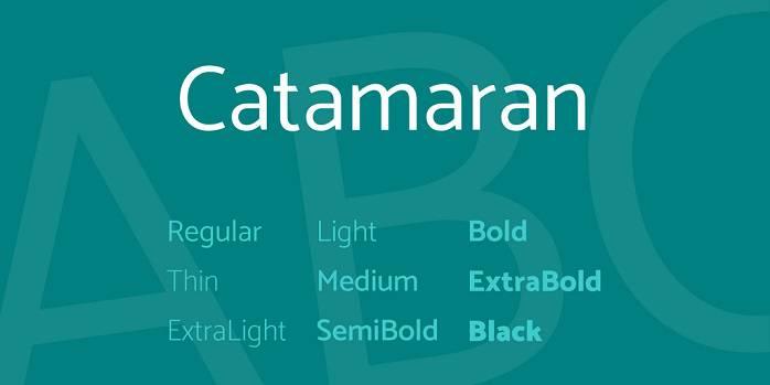 Catamaran Font Family - Dafont Free