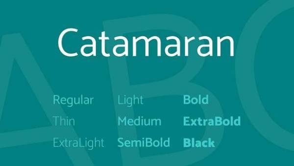 Catamaran Font Family