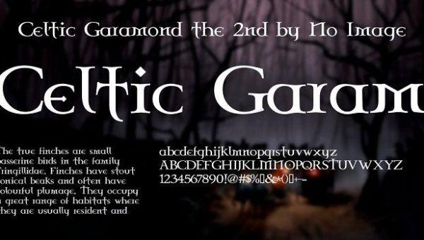 Celtic Garamond the 2nd Font