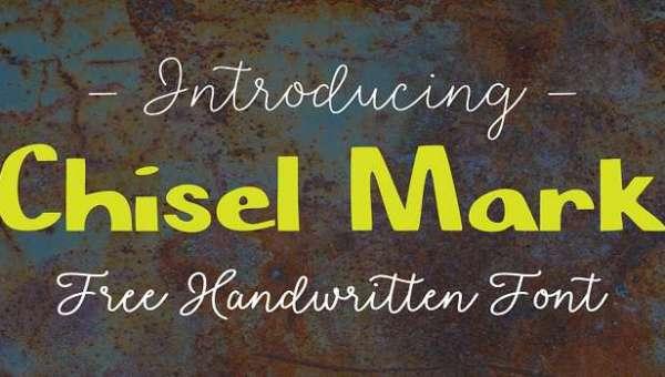 Chisel Mark Font