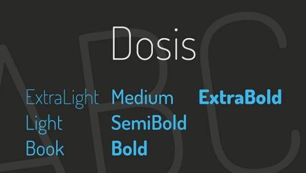 Dosis Font Family