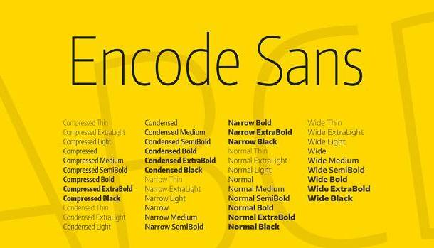 Encode Sans Condensed Font Family