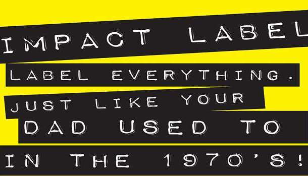 Impact Label Font Family