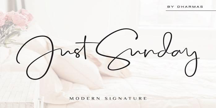 Just Sunday Font