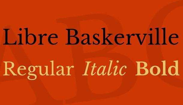 Libre Baskerville Font Family