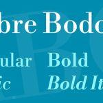 Libre Bodoni Font Family