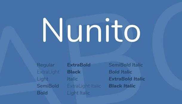 Nunito Font Family