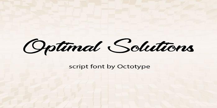 Optimal Solutions